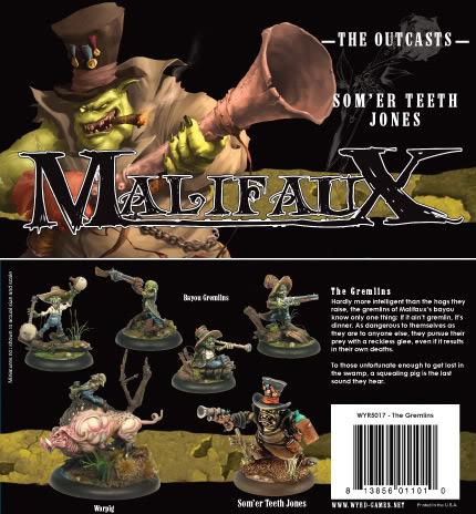 Malifaux: The Outcasts: Som er Teeth Jones: The Gremlins Box Set: 5017