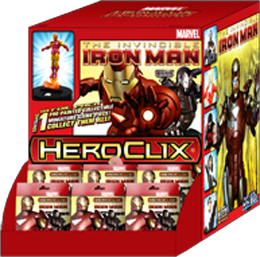 Marvel HeroClix: The Invincible Iron Man Gravity Feed Booster