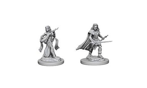 Pathfinder Deep Cuts Unpainted Minis: Human Female Bard