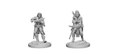 Pathfinder Deep Cuts Unpainted Minis: Elf Female Bard