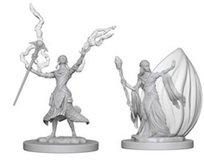 Dungeons and Dragons Nolzurs Marvelous Unpainted Minis: Elf Female Wizard