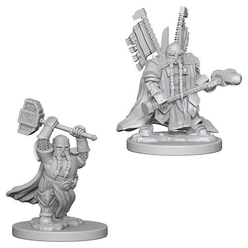 Dungeons and Dragons Nolzurs Marvelous Unpainted Minis: Dwarf Male Paladin