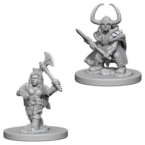 Dungeons and Dragons Nolzurs Marvelous Unpainted Minis: Dwarf Female Barbarian