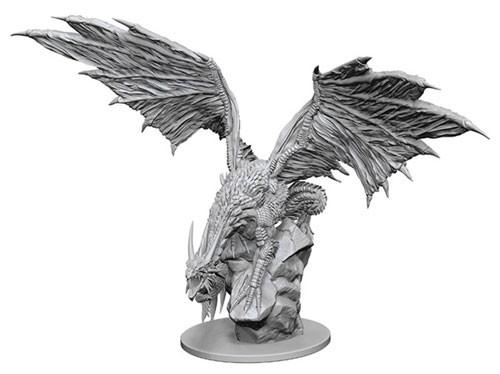 Pathfinder Deep Cuts Unpainted Minis: Silver Dragon