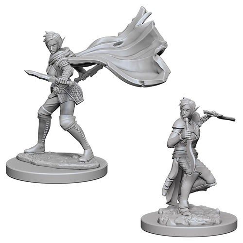 Pathfinder Deep Cuts Unpainted Minis: Elf Female Rogue