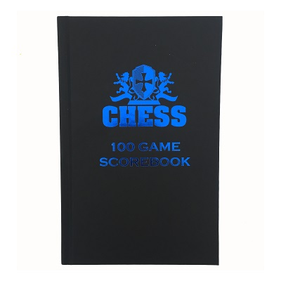 Chess Scorebook (Matte Black Hardcover)