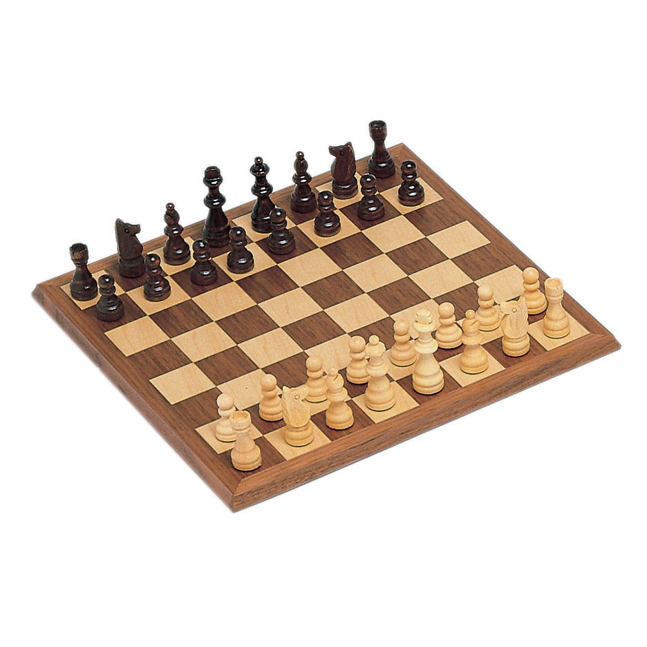 Classic Chess Set: Walnut Wood Board (12 Inches)