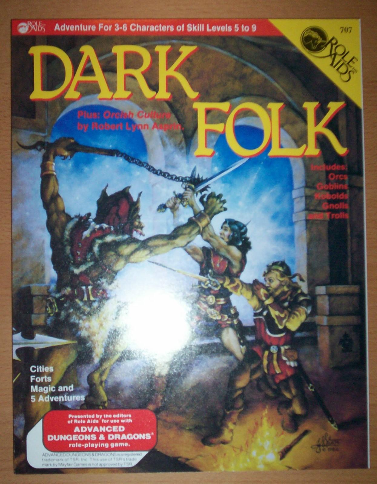 Dark Folk - A Role Aids Adventure - Used