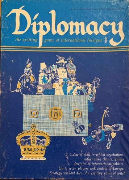 Diplomacy 1st Edition Board Game - USED - By Seller No: 72 Bill Korsak