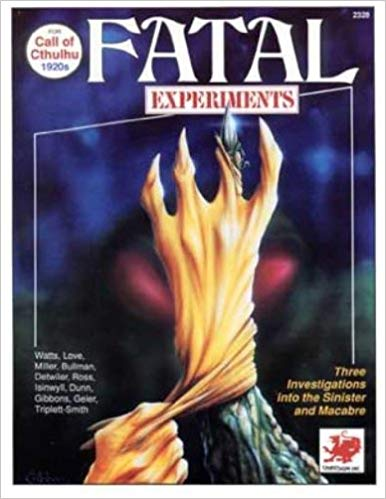 Call of Cthulhu 4th ed: Fatal Experiments 2328 - Used