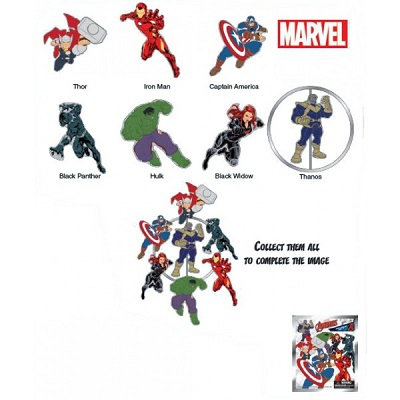 Magnetic Enamel Pins: Marvel Series 2