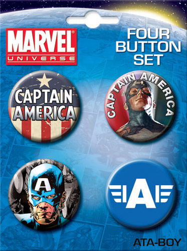 Carded 4 Button Set: Captain America 81800