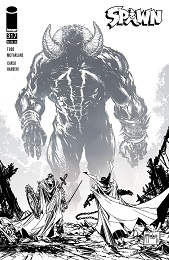 Spawn no. 317 (1992 Series) (Black and White Cover)