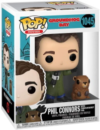 Funko POP: Movies: Groundhog Day: Phil Conners with Punxsutawney Phil (1045)