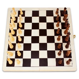 Natural Wooden Folding Chess Game with Staunton Wood Carved Pieces