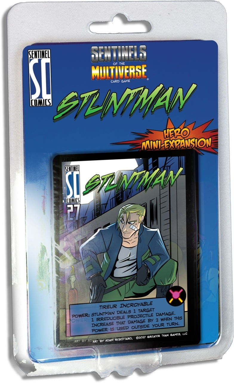 Sentinels of the Multiverse Card Game: Stuntman Mini-Expansion