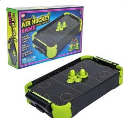 Neon Wooden Tabletop Air Hockey Game (20inx12.25in)