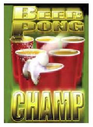 Jumbo Magnet: Beer Pong Champ