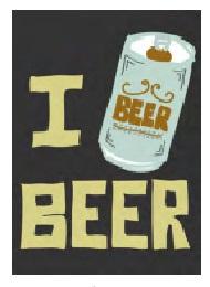 Jumbo Magnet: I Beer Beer