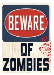 Jumbo Magnet: Beware of Zombies