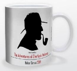 Black Sherlock Holmes Mug