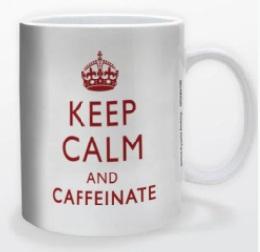 Keep Calm and Caffeinate Mug