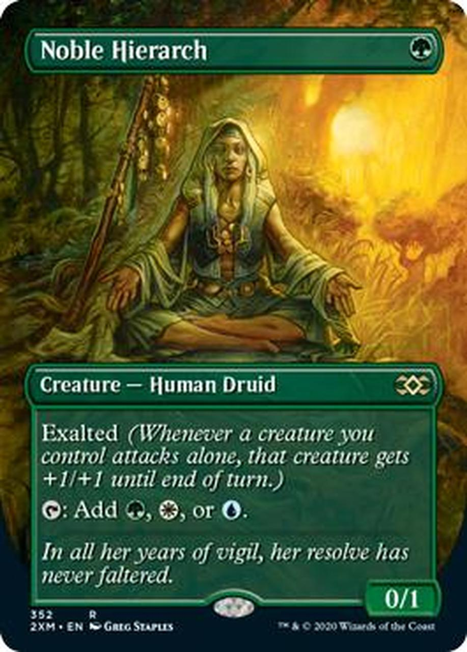 Noble Hierarch Full Art (Double Masters Box Topper)