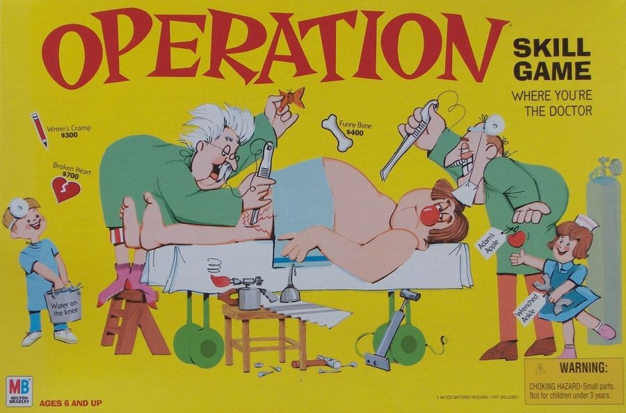 Operation Board Game - USED - By Seller No: 19164 Theresa Sivec