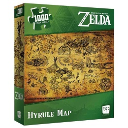 The Legend of Zelda: Hyrule Map Puzzle - 1000 Pieces