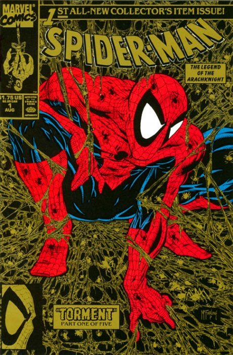 Spider-Man (1990) no. 1 (Gold Variant) 2nd Printing - Used