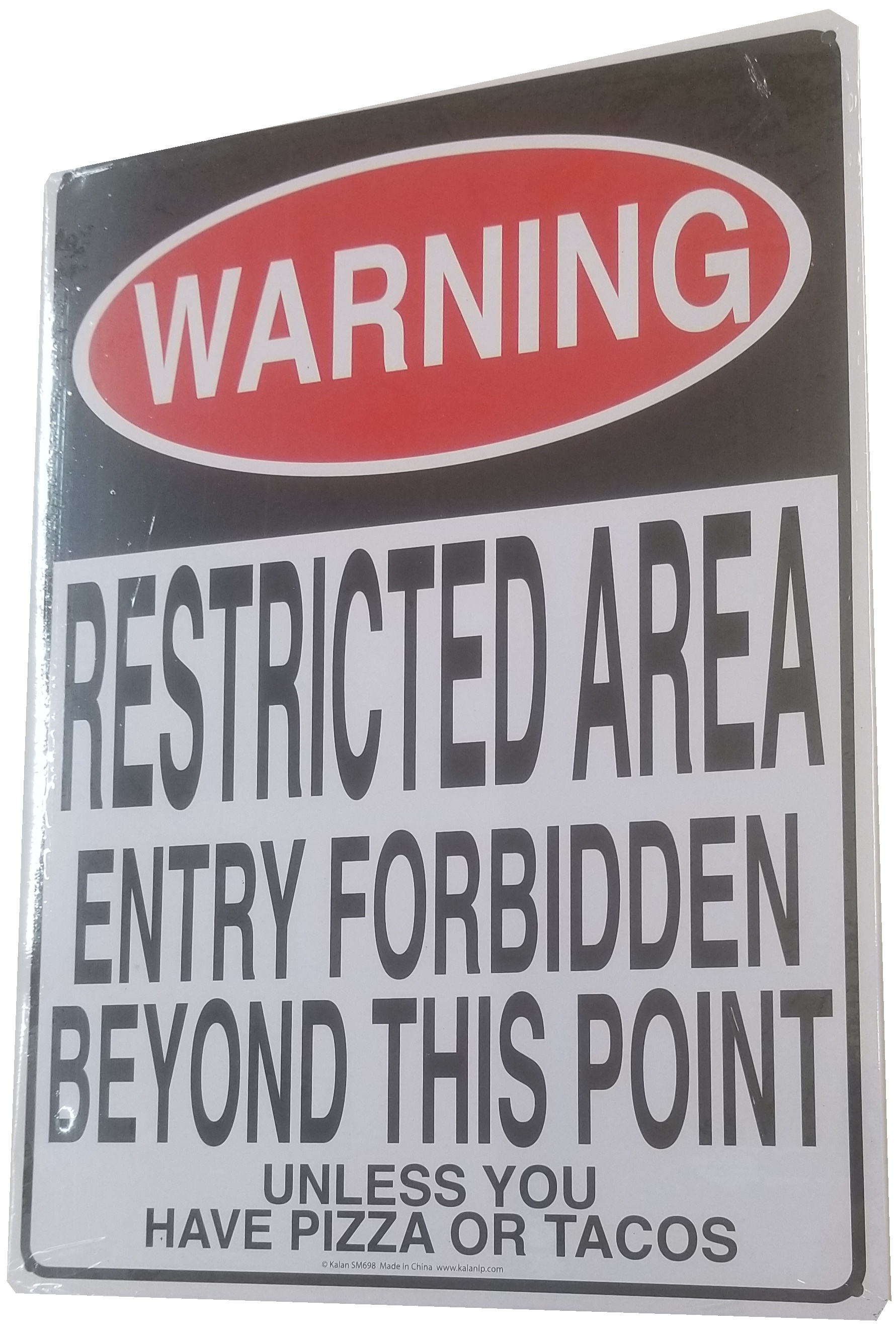Metal Poster: Warning: Restricted Area