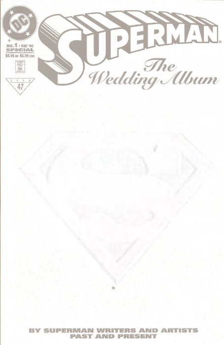 Superman (1987) Wedding Album Special no. 1 (White Embossed Cover) - Used