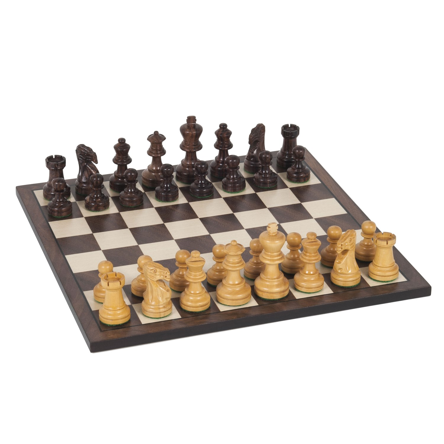 Staunton Chess Set - Weighted Rosewood Pieces and Wooden Board (12 Inches)