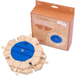 Wooden Rails: Train Track Turntables - 2-Pack
