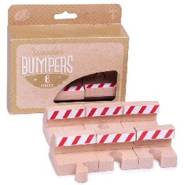 Wooden Rails: Bumpers 6-Pack