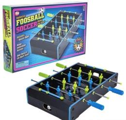 Neon Wooden Tabletop Foosball Game (20inx12.25in)
