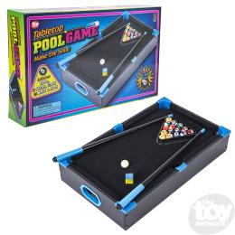 Neon Wooden Tabletop Pool Game (20.5inx12.5in)