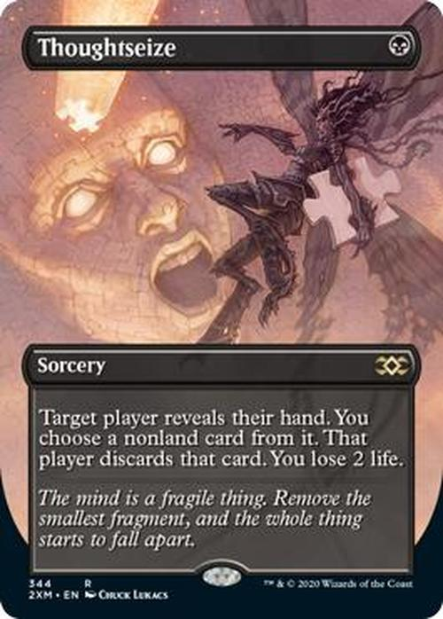 Thoughtseize Full Art (Double Masters Box Topper)