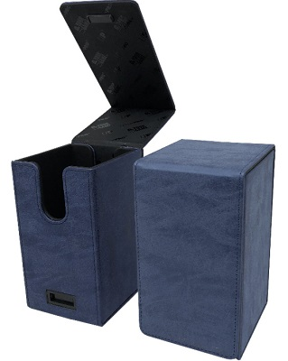 Deckbox: Alcove Flip: Suede Collection: Sapphire