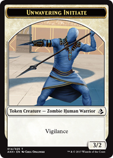 Unwavering Initiate Token with Vigilance - White - 3/2
