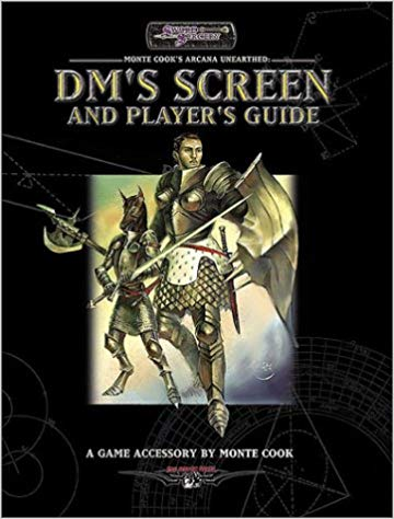 D20: Monte Cook's Arcana Unearthed: DM's Screen and Player's Guide - Used