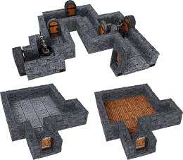 WarLock Tiles: Dungeon Tiles: One Inch Straight Walls Expansion