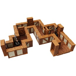 WarLock Tiles: Town and Village: One Inch Straight Walls Expansion