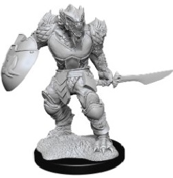 Dungeons and Dragons: Nolzur's Marvelous Unpainted Miniatures Wave 15: Male Dragonborn Fighter