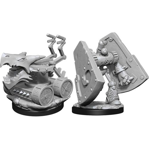 Dungeons and Dragons: Nolzur's Marvelous Unpainted Miniatures Wave 15: Stone Defender and Oaken Bolter