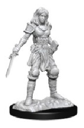 Deep Cuts Unpainted Miniatures: Wave 15: Human Fighter Female