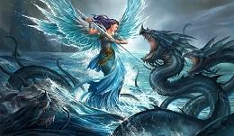 Playmat: Aquatic Angel