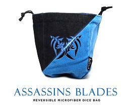Large Microfiber Dice Bag: Assassin's Blades