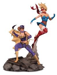 DC Bombshells: Batgirl and Supergirl Celebration Statue