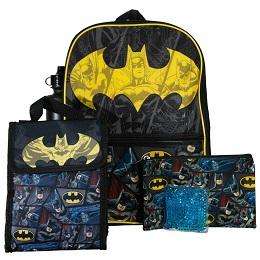 Batman 5 Piece Backpack Set